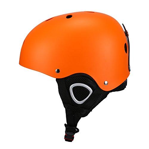 Babimax Skihelm Schutzhelm Sport (L, Orange)