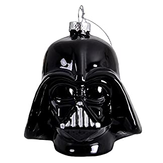bola de Navidad de Star Wars Darth Vader negro vidrio 8x8x11cm