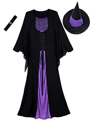 Böse Hexe Hut - Agoky 3er Set Damen Böse Hexen