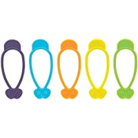 The World's Greatest Stretch N' Twist Silicone Bag Ties, (20 Ties in Total) by HIC (Harold Import Silicone)