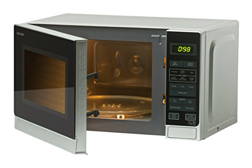 Sharp SHR272SLM  Microwave with 1 Year Warranty, 20 Litre, 800 Watt, Silver