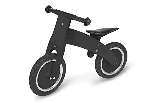 Pinolino Laufrad Pirat, aus Holz, unplattbare Bereifung, umbaubar vom Chopper zum Laufrad, für Kinder von 2 - 5 Jahren, schwarz