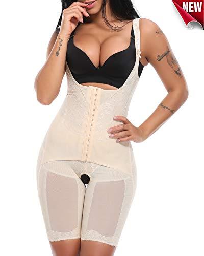 Miss Moly Donna Guaine contenitive cosce Sanremo aderente body snellente uniforme liscio e classi cowaist Trainer Shapewear Beige 4XL