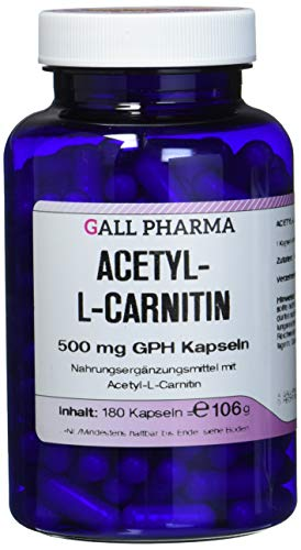 Gall Pharma Acetyl-L-Carnitin 500 mg GPH Kapseln 180 Stück
