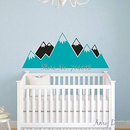133x56 cm Multicolor Berg Wandtattoo Kinderzimmer Woodland Vinyl Wandaufkleber Baby Kinderzimmer Wanddekor Hause Wandmalereien Wandtattoo