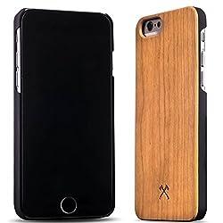 Woodcessories - EcoCase Classic - Premium Design Case, Cover, Hülle für das iPhone aus FSC zert. Holz (iPhone 6/ 6s, Kirsche/ schwarz)