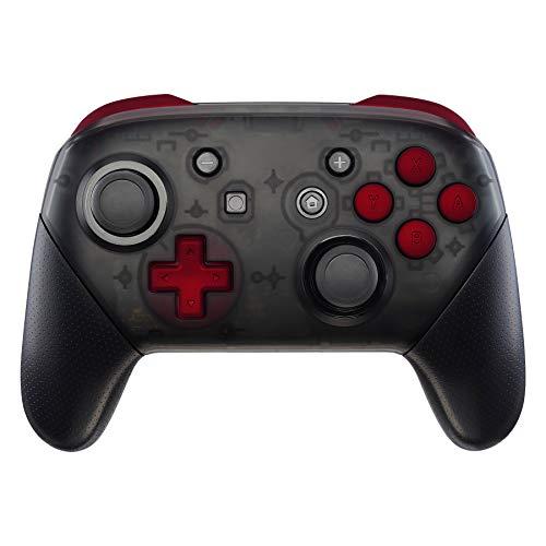 eXtremeRate Tasten Kit für Nintendo Switch Pro,ABXY D-pad ZR ZL L R Knöpfe Tasten Trigger Buttons, Komplett Set Ersatzteile mit Tool Set für Nintendo Switch Pro-Kein Controller(Rot)