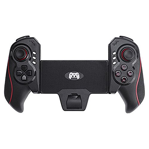High-Tech STM01 Game Controller Einzigartiges Design Bluetooth Controller PC-Gamepad für iPhone/iPod/iPad/Android Phone/Tablet Kunstleder, schwarz + rot (Ipad 1 Fällen Otter Box)
