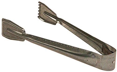Preisvergleich Produktbild Kamino Flam Brikettzange in Silber verzinkt, Kohlezange für Kamin, Ofen oder Grill, einfache Kaminzange ohne Doppelgelenk für Briketts und Kohle, Maße: ca. 9 x 21,5 x 3,5 cm