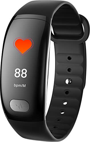HTTXSBL Sportuhr Fitness Tracker Herzfrequenzerkennung Farbdisplay Bewegung Echtzeitüberwachung IP67 wasserdicht Sombre