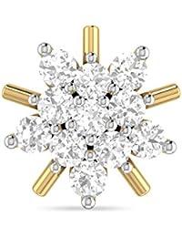 PC Jeweller The Golrokhi 18KT Yellow Gold & Diamond Nose Pin