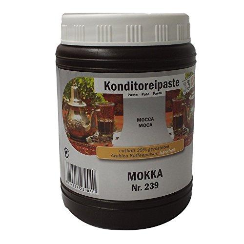 Konditoreipaste Mokka Paste Nr. 239, 1 kg, 39% geröstes Arabica Kaffepulver