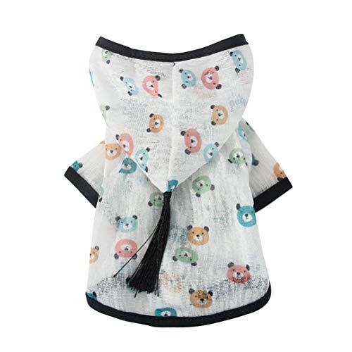 POPETPOP Hundekostüm Hund Sonnenschutz Kleidung Atmungsaktiv Bärendruck Kleidung - Bär Kostüm Angriff