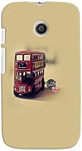 PRINTVISA Travel Bus Case Cover for Motorola Moto E (Multicolour)