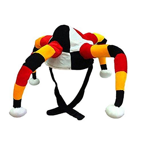 Russland-Kappen-Staatsflagge-Farben-Clown-Hut-Cheerleading-Fußballfan-Dekorationen Headwear (Lustige Holloween)