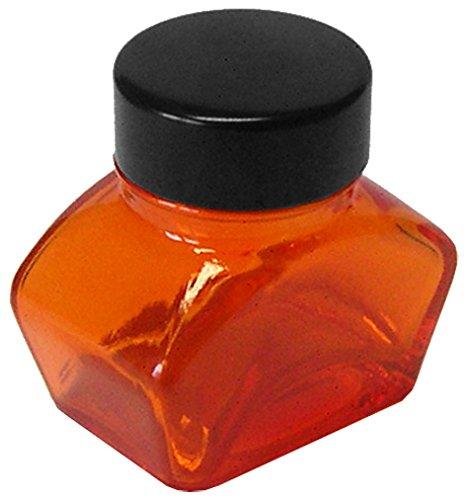 Tintenglas 30 ml leer, orange