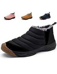 Hishoes Stivali da Neve Uomo Stivaletti Caviglia Donna Stivali Inverno  Bassi Pelliccia All aperto Scarpe 47dce85a3e78