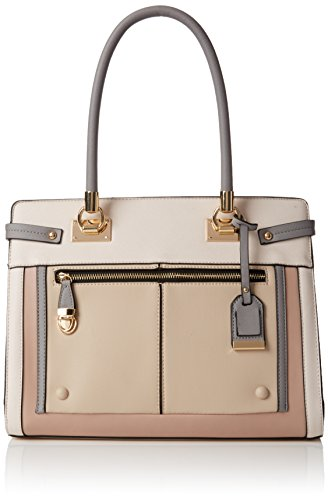 - 41ohdAR A7L - New Look Women's Multi Gusset Tote Beige (Oatmeal)