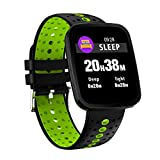 YSCYLY Fitness Tracker Smart Watch IP68 Wasserdichte Uhr Farbdisplay Sport Blutdruck Pulsmesser Für IOS Android,Green
