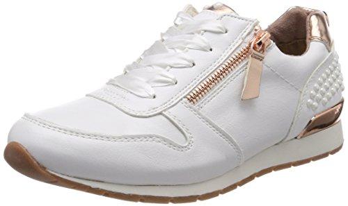 TOM TAILOR für Frauen Schuhe Turnschuhe mit Perlen-Applikationen White, 38