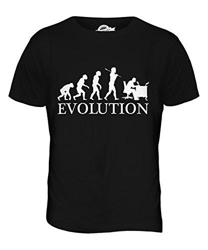 CandyMix Kalligrafie Evolution Des Menschen Herren T Shirt Schwarz