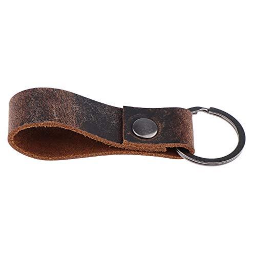 IPOTCH PU-Leder Schlüsselanhänger Schlüsselbund Handtaschenanhänger Taschenanhänger Modeschmuck für Herren Damen
