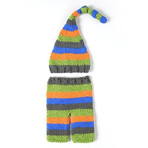 Kinder Baby Strick Mütze Fotoshooting Neugeborene Frosch Muster Design Hut Kostüm Hüte