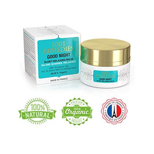 1001 Remedies Gute Nacht Schlafen Lavendel Balsam- Besser Schlafen Bio beruhigend Lotion- 11 ätherische Öle inkl. Lavendel - natürliche ruhe- bei Angst, Stress und Unruhe - geeignet für Kinder -