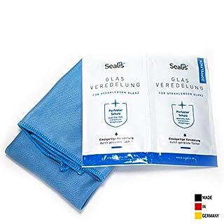 Nano Glas Versiegelung mit Abperleffekt - Veredelung wasserabweisend Anti Kalk für Fensterscheiben Dusche Bad I Sealis I Made in Germany
