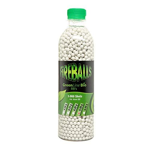FireBalls Bio Softairkugeln Green Line 0,28g weiß, 3.000 Stück Flasche