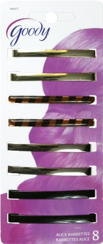 Goody Classics Barrette Stay Tight, Patterned, 8 Count (Pack of 3) by Goody Products- A Newell Rubbermaid Company