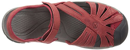 Keen Rose Leather Damen Sandalen Dark Earth rosa - grau