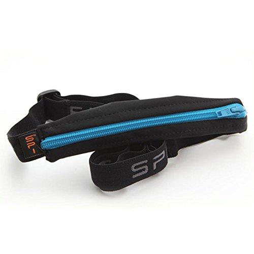 Spibelt Original Basic Black with Turquoise Zipper Lauftasche, S-XL Basic-zipper