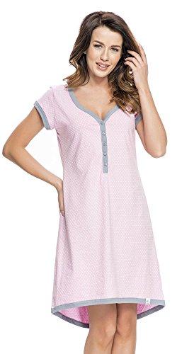 Baumwoll-nachthemd (DN, Nachthemd, TM 5038, pastel violet, Gr. M)