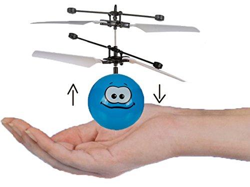 Bada Bing Fliegender Helicopter Ball Mini Infrarot Flugball Lustige Gesichter Smiley Geschicklichkeitsspiel Inkl. Akku Und USB Ladekabel 45
