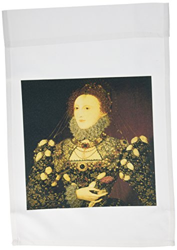 3dRose FL_128071_1 Queen Elizabeth I by Nicholas Hilliard Garden Flag, 12 by 18-Inch