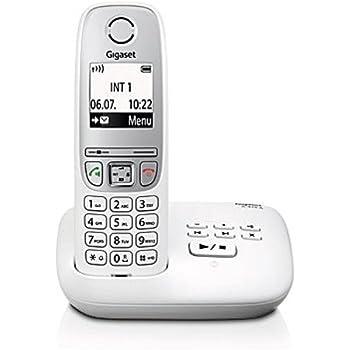 Gigaset A415A Telefon - Schnurlostelefon / Mobilteil mit Grafik Display - Dect-Telefon mit Anrufbeantworter / Freisprechfunktion - Analog Telefon - Weiss