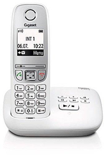 Gigaset A415A Schnurloses Telefon mit Anrufbeantworter (einfaches DECT Telefon mit Freisprechfunktion, Grafik Display und leichter Bedienung) weiß (Schnurloses Telefon)