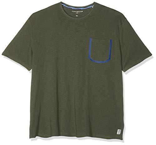 TOM TAILOR Herren 1011806 T-Shirt, Grün (Dark Thyme 10573), XXX-Large (Herstellergröße: XXXL) (Mann T-shirt Grün)