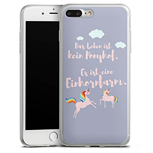 Apple iPhone 8 Slim Case Silikon Hülle Schutzhülle Einhörner Spruch Ponyhof Silikon Slim Case transparent