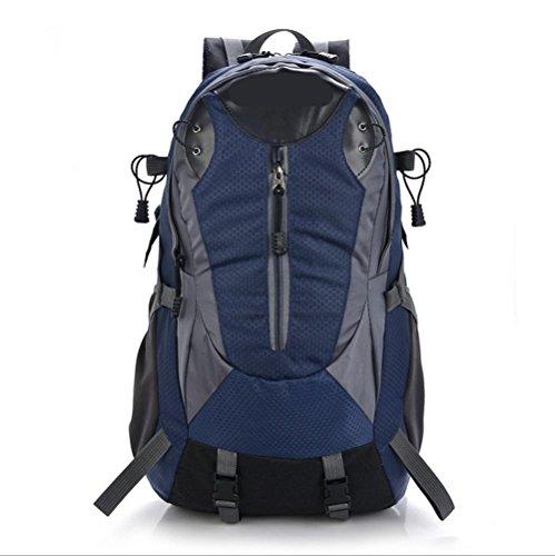 Xiuxiandianju Zaino porta computer di 36-55L zaino zaino alpinismo all'aperto di grande capacità borsa tempo libero , green deep blue