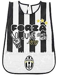 PERLETTI Delantal Infantil Juventus Football Club - Bata Escolar Impermeable de Juve con Bolsillo Delantero -