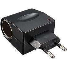 AUDEW Adaptador Enchufe Casero A Mechero De Coche Eu Enchufe 5W (220VAC-12VDC Pared AC a DC )