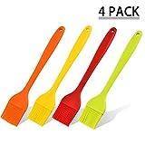YANSEN Erwachsene yang18102604 Hochtemperatur-silikonpinsel, Essen Grillpinsel, Mehrfarbige Backen DIY Tools (Vier Packungen), rot, s