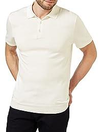 WoolOvers Polo en maille à manches courtes - Homme - Soie & Coton