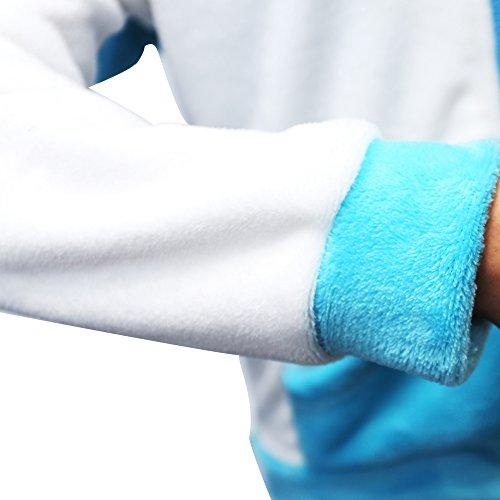 KiKa Monkey Cosplay Einhorn Tier Hoodie Jacke Pullover Party Kostüm Blauflügel
