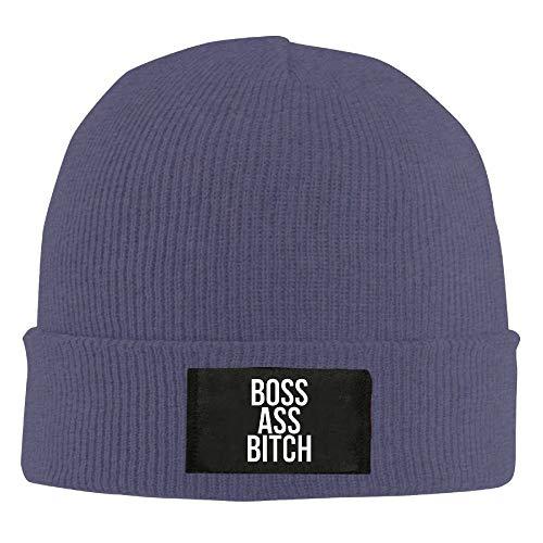 Xdevrbk jjz womens boss ass bitch divertente winter beanie hat skull cap navy fashion27