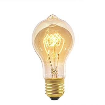 Lampadina Vintage Stile Edison A19 40Watt E27 220V Stile Retro Industriale Filamenti incandescenti