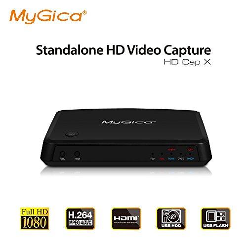 MyGica Juego Captura de Vídeo HD -Geniatech HDCapX Avanzado HDMI/YPBPR & Grabador con Entrada Compuesto - Control Remoto & Función de Streaming - Apto para uso con PC, PS3, PS4, Xbox One, WiiU - HD 1