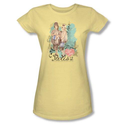 I Love Lucy - Frauen Paris Kleid T-Shirt In Banana, Small, Banana